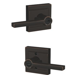 Latitude Keyed Entry Lever with Upland Trim by Schlage