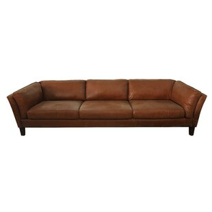 Shop Condron 3 Seater Leather Sofa by Foundry Select