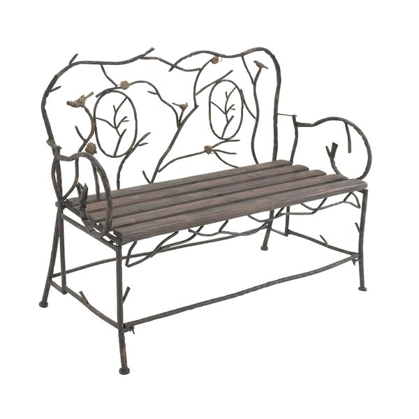Cole U0026 Grey Entryway Iron Garden Bench | Wayfair