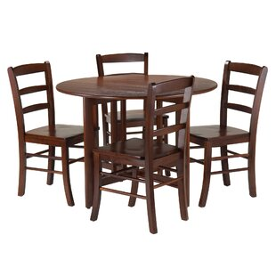 Columbia 5 Piece Drop Leaf Dining Set Red Barrel Studio