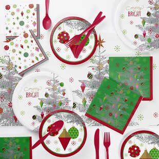 monahan christmas 73 piece party supplies kit