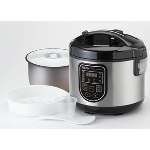 Aroma 20-Cup Professional Digital Rice Cooker- Food Steamer and Slow Cooker