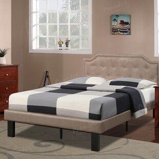 Poundex Bobkona Finely Twin Upholstered Platform Bed