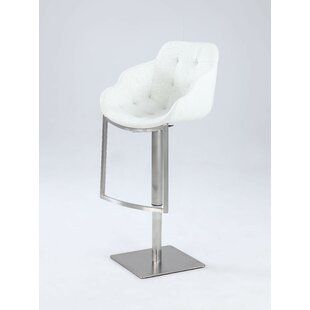 Nazia Adjustable Height Bar Stool Orren Ellis