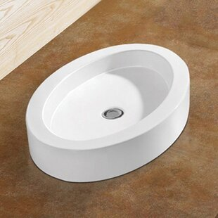 Vanitesse Ceramic Oval Vessel Bathroom Sink