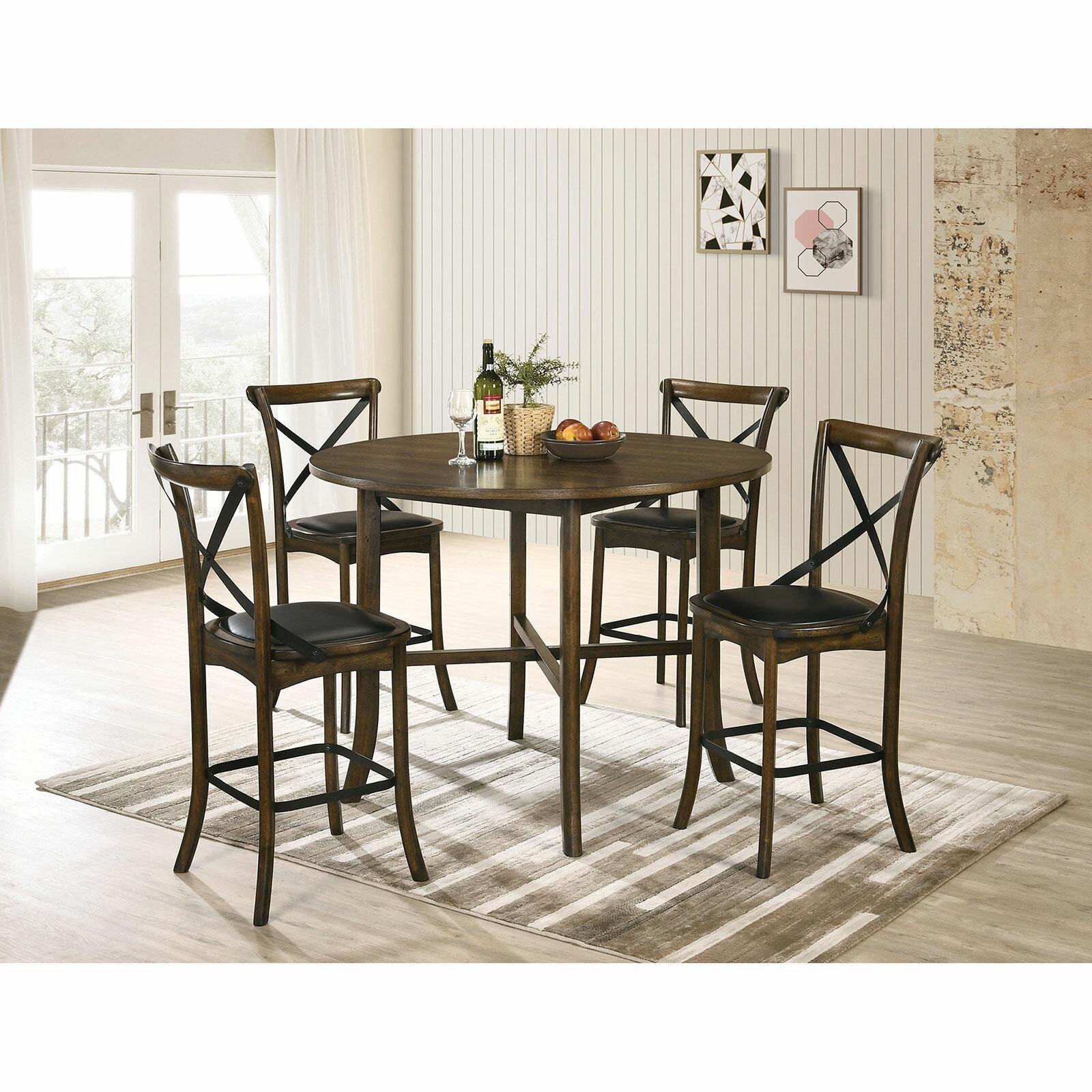 Gracie Oaks Torrence Placer 5 Piece Counter Height Dining Set Wayfair