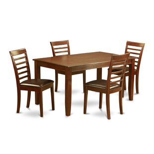 Dudley 5 Piece Solid Wood Dining Set by Wooden Importers Top Reviews