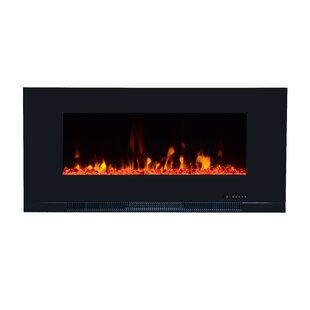 Riel Recessed Wall Mounted Electric Fireplace by Orren Ellis