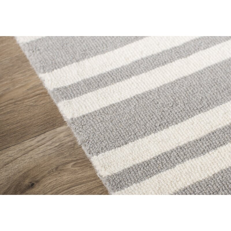 Handmade Tufted Wool Gray Area Rug