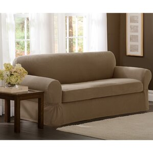 2 Piece Sofa Box Cushion Slipcover