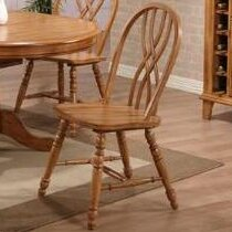 Rustic Oak Solid Wood Dining Chair (Set o..