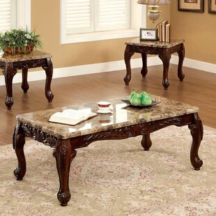 Levesque Traditional 3 Piece Coffee Table Set by Astoria Grand