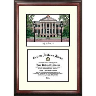 NCAA College of Charleston Cougars Scholar Lithograph Diploma Frame By Campus Images