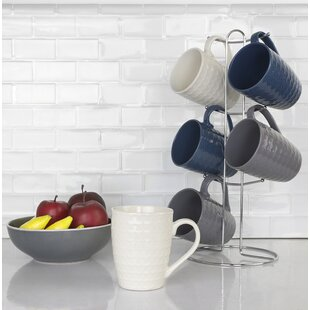 Stoneware Mugs Set (Set of 6)