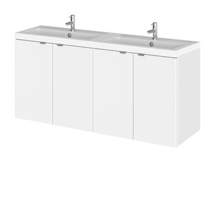 Maddalena 1205mm Wall Mounted Double Vanity Unit By Belfry Bathroom