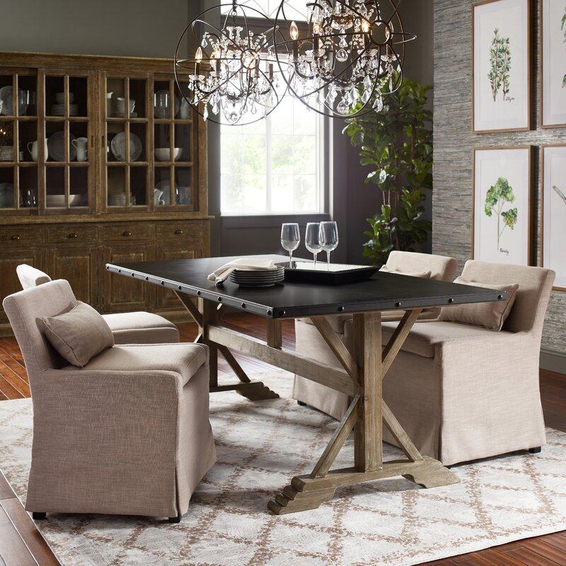 Leann Skirted Upholstered Dining Chair
