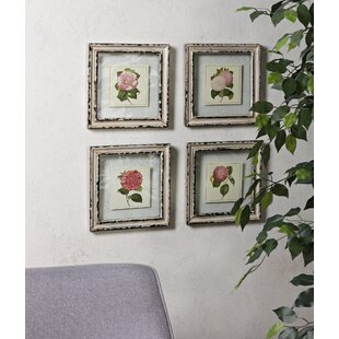 Wall art birch lane cottage floral framed prints set of 4 gumiabroncs Image collections