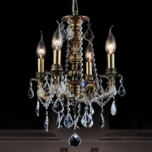 CWI Lighting 4-Light Candle Style Chandelier