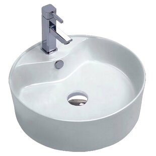 Reviews Vitruvius Series Vitreous China Circular Vessel Bathroom Sink with Overflow By ANZZI