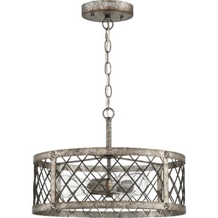 Williston Forge Dillion 3-Light Drum Chandelier