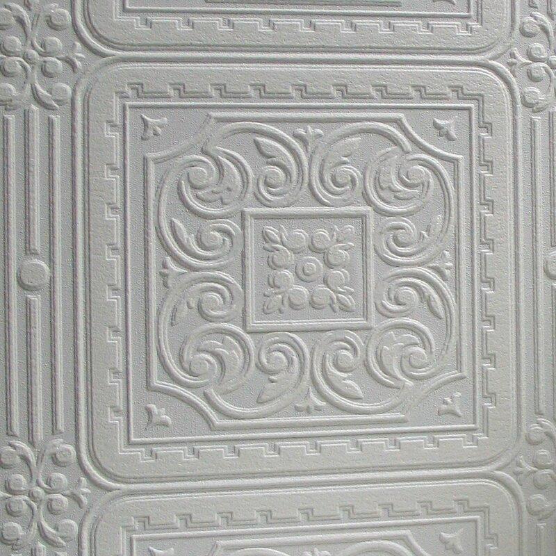 "Anaglypta Paintable 33' x 20.5"" Turner Wallpaper Roll"