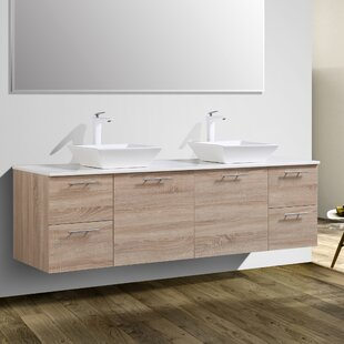 Affordable Orrville 72 Wall-Mounted Double Bathroom Vanity Set By Orren Ellis