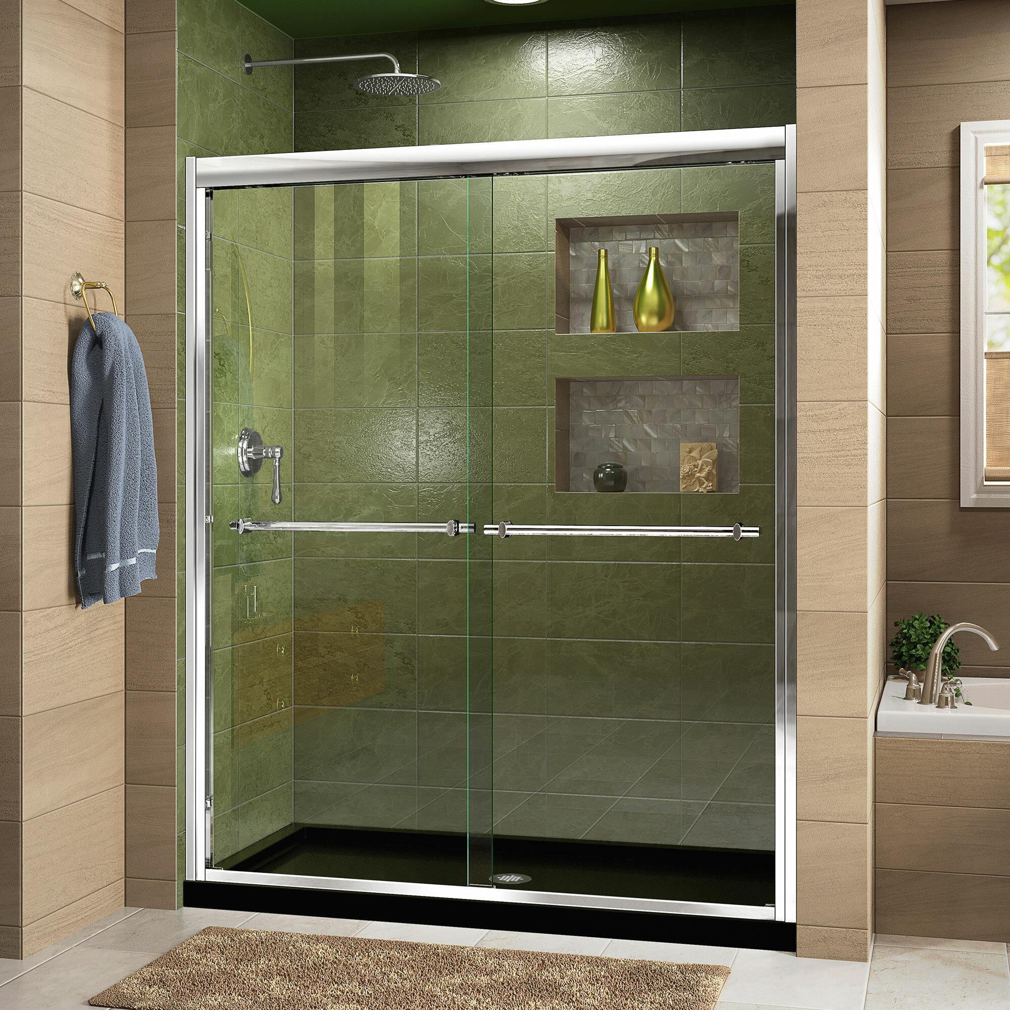 Duet 60 X 74 75 Bypass Semi Frameless Shower Door