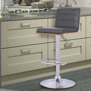 Price comparison Branch Adjustable Height Swivel Bar Stool by Wade Logan Reviews (2019) & Buyer's Guide