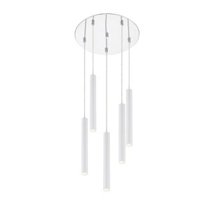 Desborough Island Billiard 5-Light LED Cluster Pendant by Orren Ellis