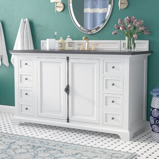 Ogallala Traditional 60 Single Cottage White Bathroom Vanity Set by Greyleigh