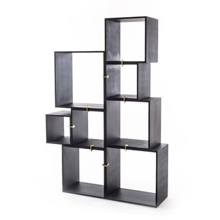 Laquered Modules Anthracites Cube Unit Bookcase by Seletti