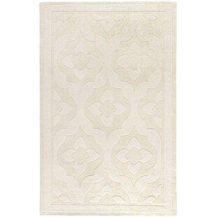 Inexpensive Trombetta Hand Tufted/Hand Loomed Wool Glass/Milk Area Rug ByWinston Porter