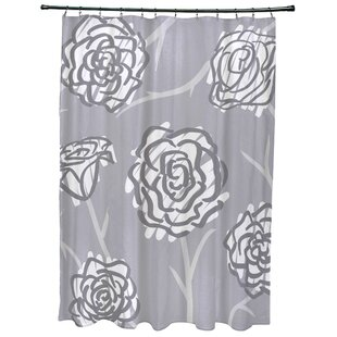 Latitude Run Cherry Spring Floral 2 Print Shower Curtain