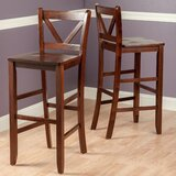 Solid Wood Bar & Counter Stool (Set of 2) by Andover Mills™