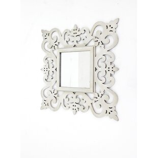 Teton Home Traditional Floral Cosmetic Wall Mirror (Set of 2)