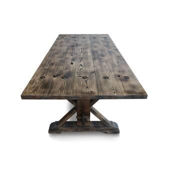 Loon Peak Ellar Solid Wood Dining Table Wayfair