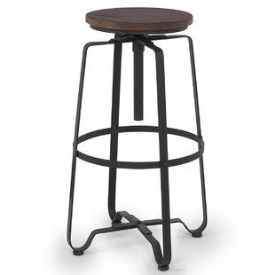 Belleze Adjustable Height Swivel Bar Stool