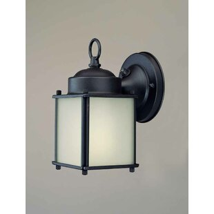 1-Light Outdoor Wall Lantern by Volume Lighting 2019 Sale