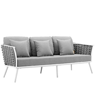 Rossville Outdoor Patio Sofa with Cushions by Ivy Bronx