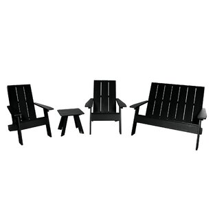Plastic 4 Piece Adirondack Chair with Table Set by Highwood USA