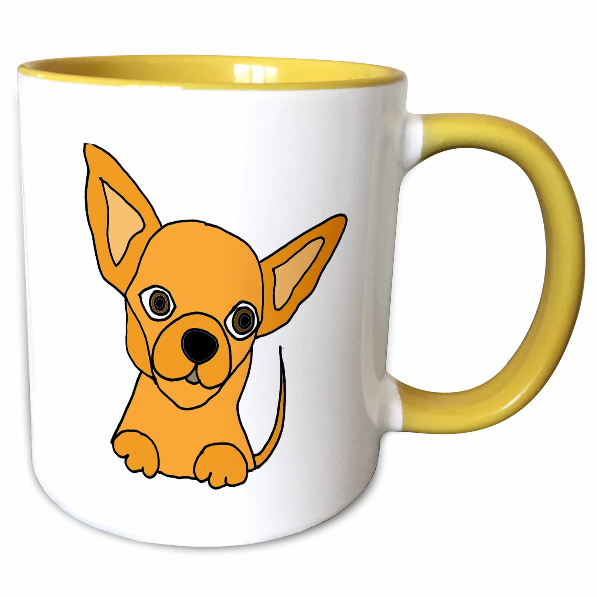 Symple Stuff Madeira Cute Chihuahua Puppy Dog Cartoon Coffee Mug Wayfair