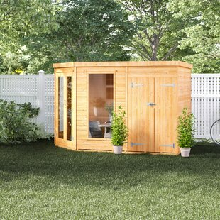 Mercia 10.5 X 7 Ft. Shiplap Corner Summer House By Sol 72 Outdoor