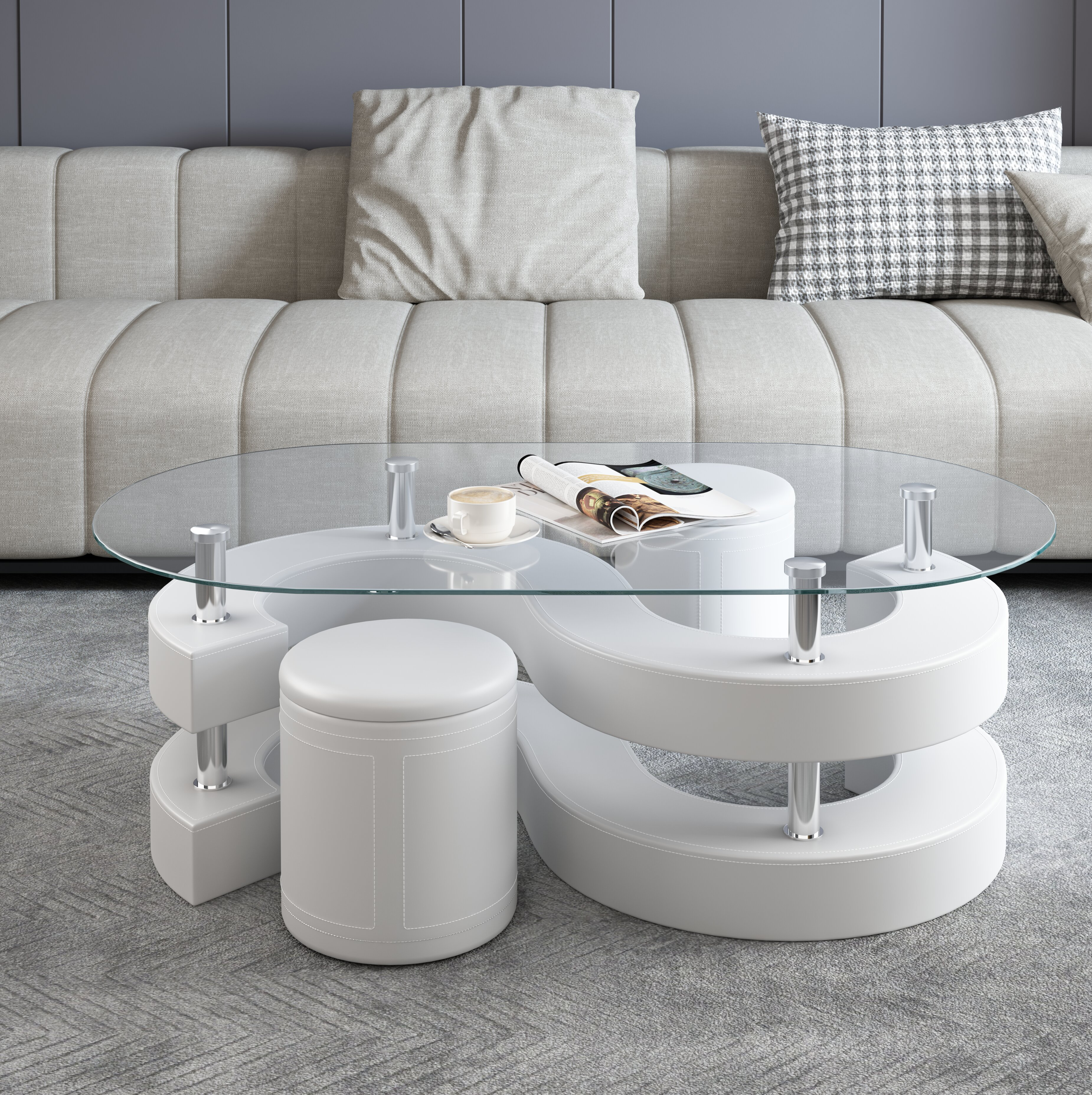 Orren Ellis Addaly Abstract Coffee Table Reviews Wayfair