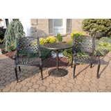 Puga 3 Piece Bistro Set with Sunbrella Cushions