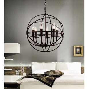 Gracie Oaks Margo 6-Light Candle-Style Chandelier