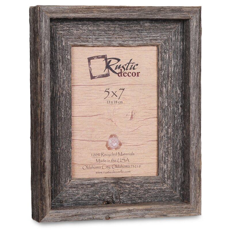 Loon Peak Waldrop Barn Wood Reclaimed Wood Signature Picture Frame ...