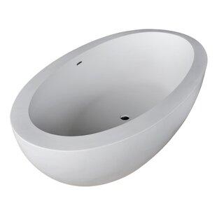 Lusso 75.5 inch  x 40.5 inch  Freestanding Soaking Bathtub