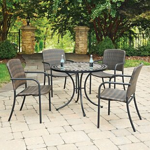 Home Styles Marble Top Round 5 Piece Dining Set