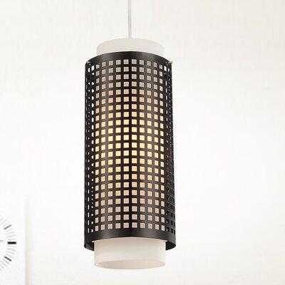 "1-light Cylinder Pendant Cwilighting Size: 60"" H X 6"" W X 6"" D"
