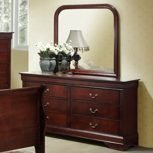 Braiden 6 Drawers Double Dresser with Mirror by Charlton Home
